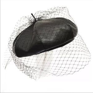 Brand new French beret with veil